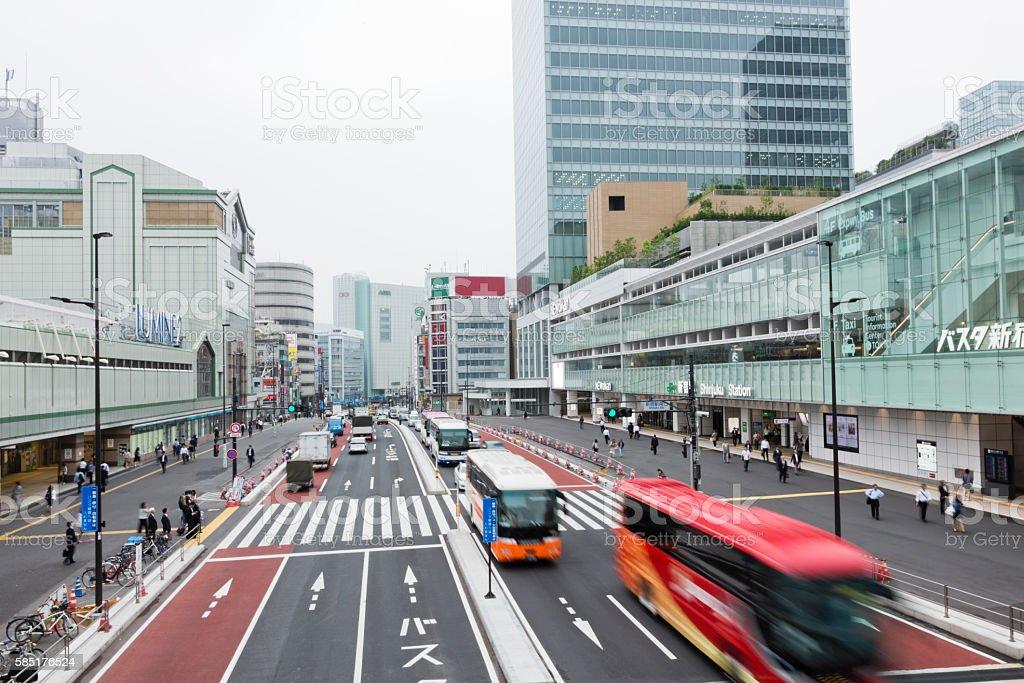 Tokyo Shinjuku Expressway Bus Terminal stock photo