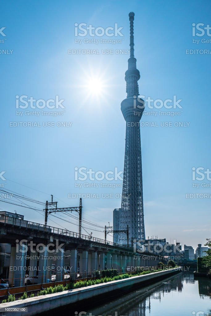 Tokyo Sky Tree And Blue Sky Tokyo Sky Tree Is One Of The Famous Landmark In  Tokyo It Is The Tallest Structure In World When Built Stock Photo & More