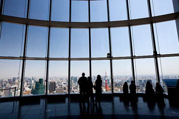 Tokyo sky view stock photo
