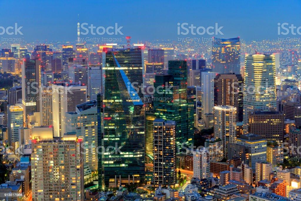 Tokyo Skyline at Twilight stock photo