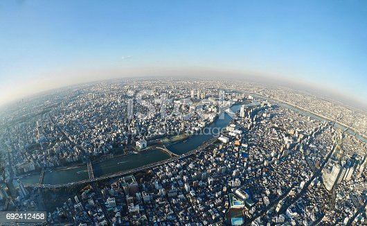 istock Tokyo skyline from the tower. 692412458