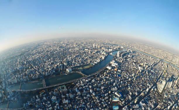 東京タワーからのスカイライン。 ストックフォト