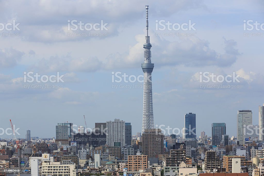 Tokyo Skyline in Japan stock photo