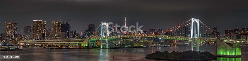 928415496 istock photo Tokyo Skyline Pano 865196358