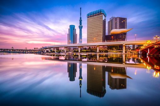Tokyo Skyline Sumida River