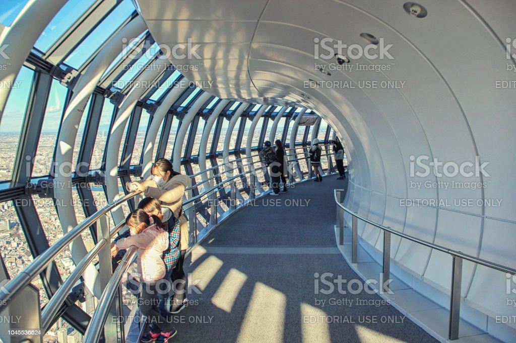 Tokyo Skytree sight platform Tembo Galleria stock photo