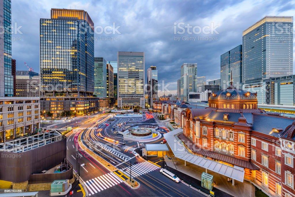 Tokyo Station Japan stock photo