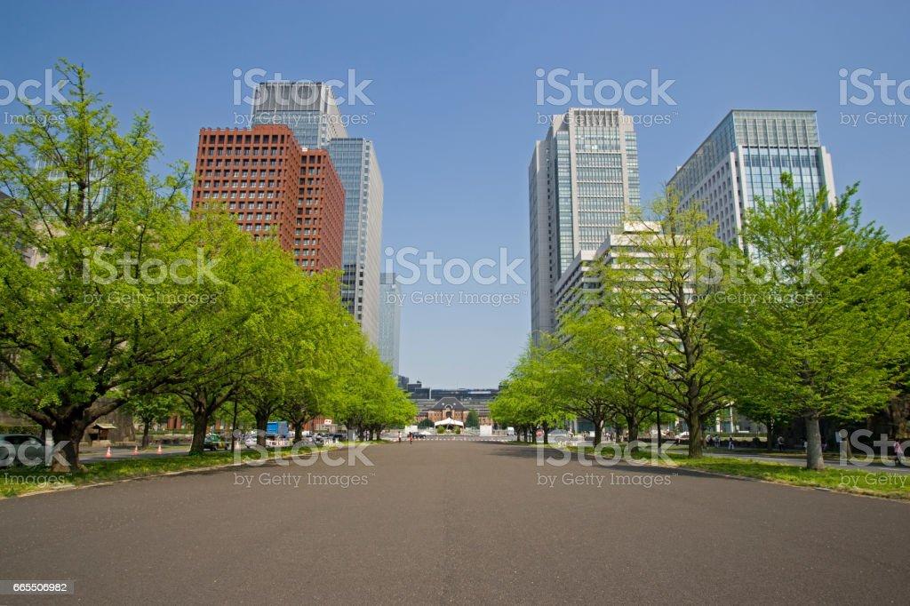Tokyo station stock photo