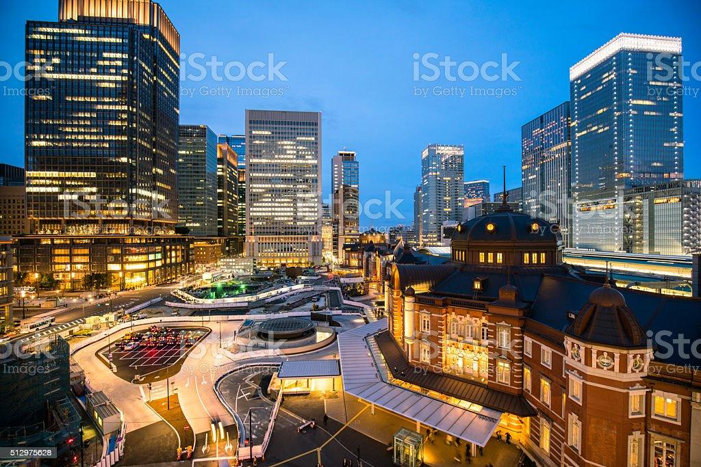 Tokyo station view stock photo