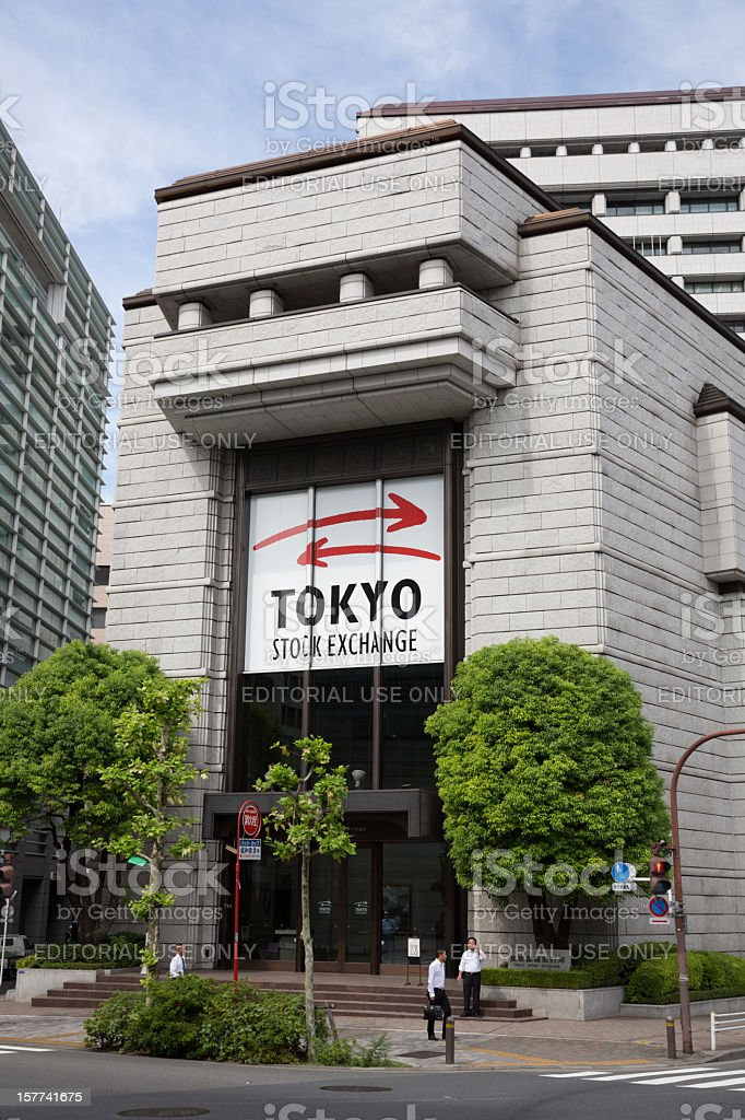 Tokyo Stock Exchange royalty-free stock photo