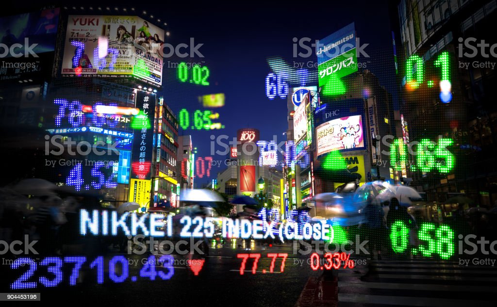 Tokyo stock market stock photo