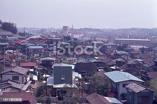Tokyo, Honshu, Japan, 1974. Suburb of Tokyo.