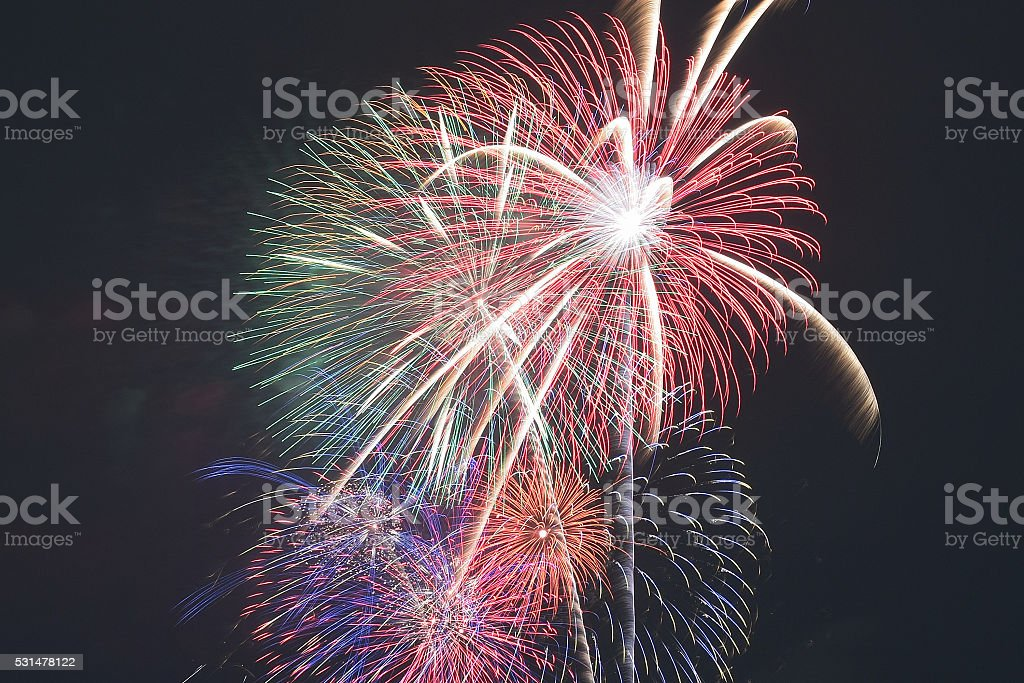 Tokyo Summer Fireworks Festival Background stock photo