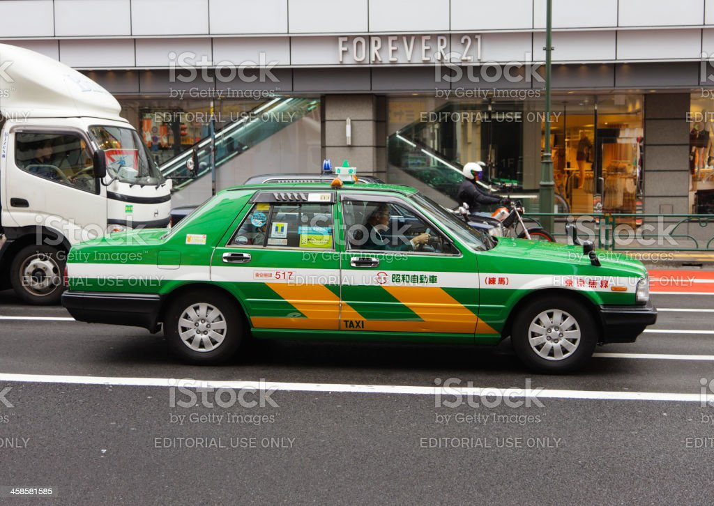 Tokyo Taxi royalty-free stock photo