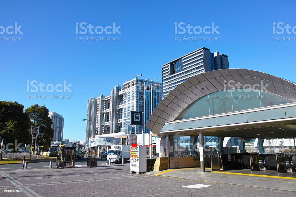 Tokyo Teleport Station Rinkai Line stock photo
