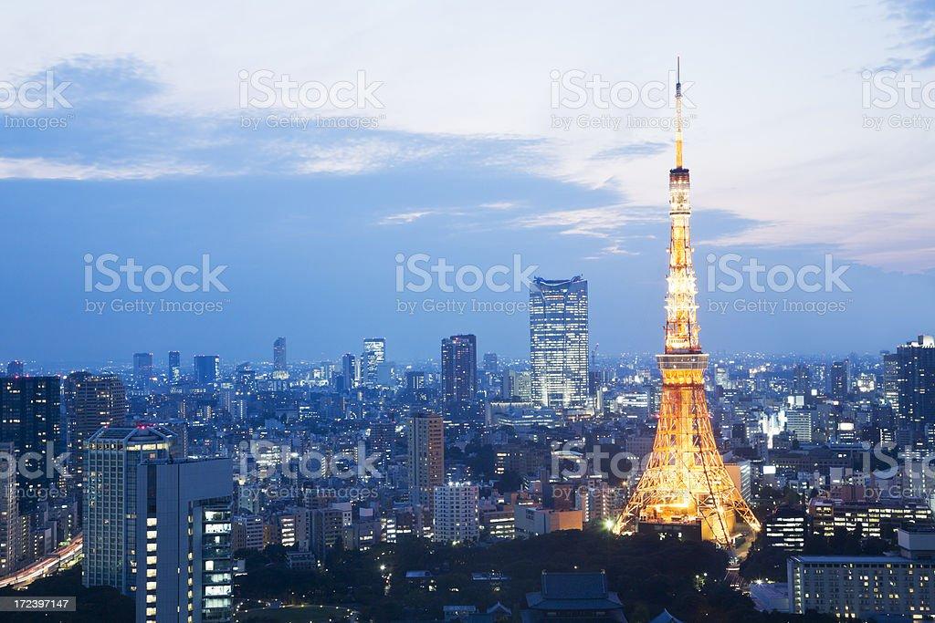 Tokyo Tower at Dusk royalty-free stock photo