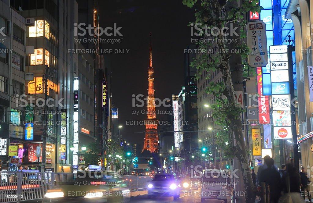 Tokyo tower cityscape stock photo