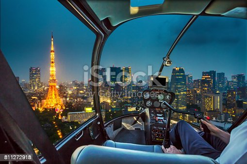 istock Tokyo Tower Helicopter 811272918