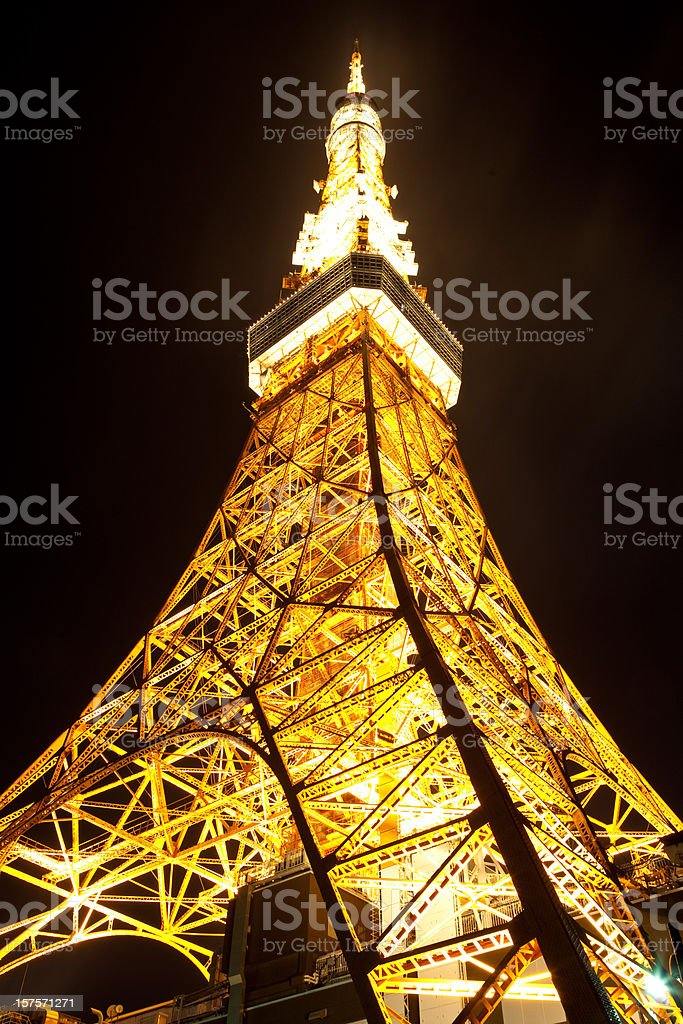 Tokyo Tower in night royalty-free stock photo