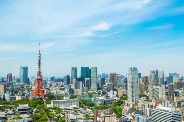 Tokyo tower, landmark of Japan stock photo