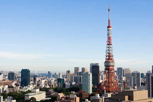 Tokyo Tower (midday version) stock photo