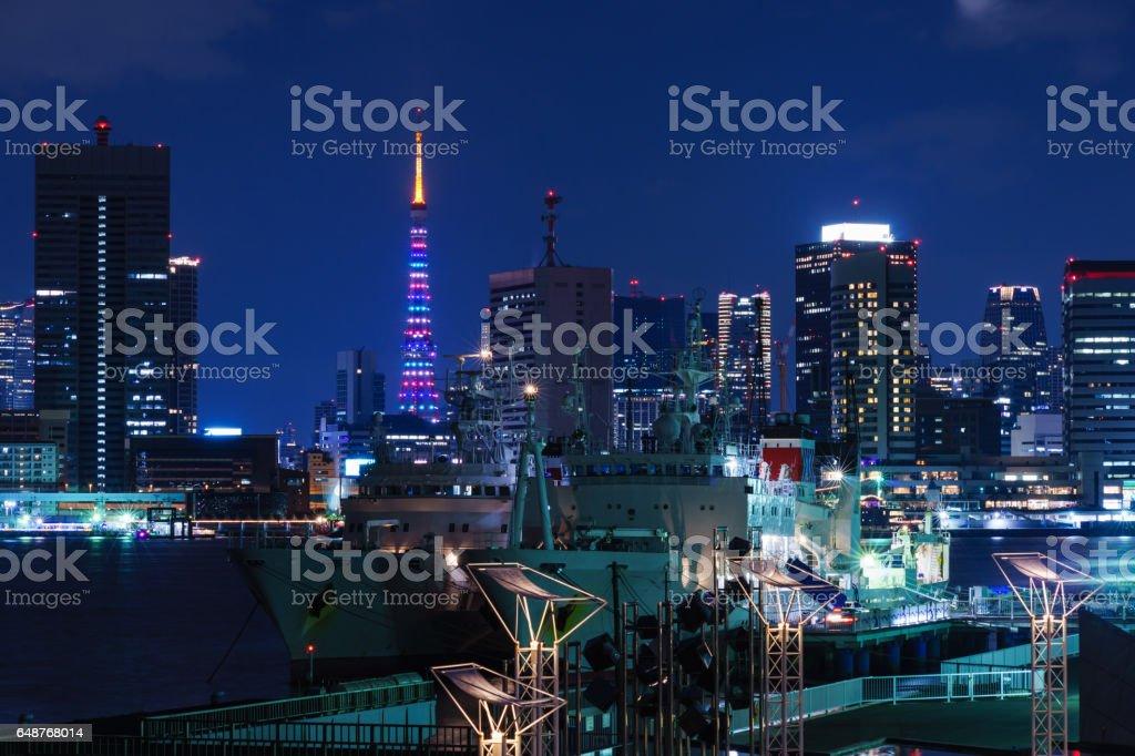 東京タワーの特別な Linghting ストックフォト