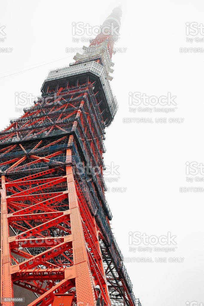 Tokyo Tower-Shiba koen district-Minato ward. Tokyo-Japan. 8190 stock photo