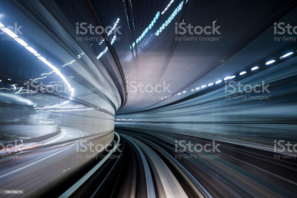 Tokyo Transit System Line royalty-free stock photo
