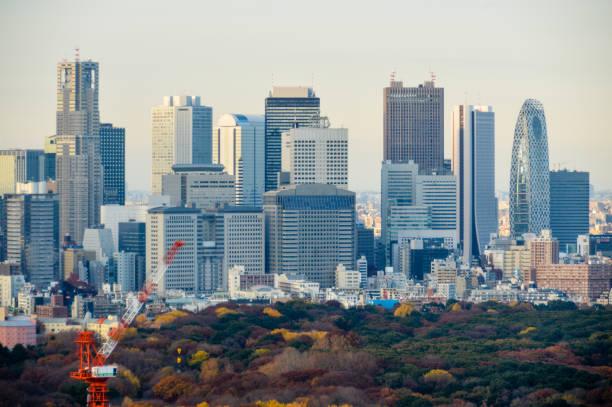 Tokyo urban skyline stock photo