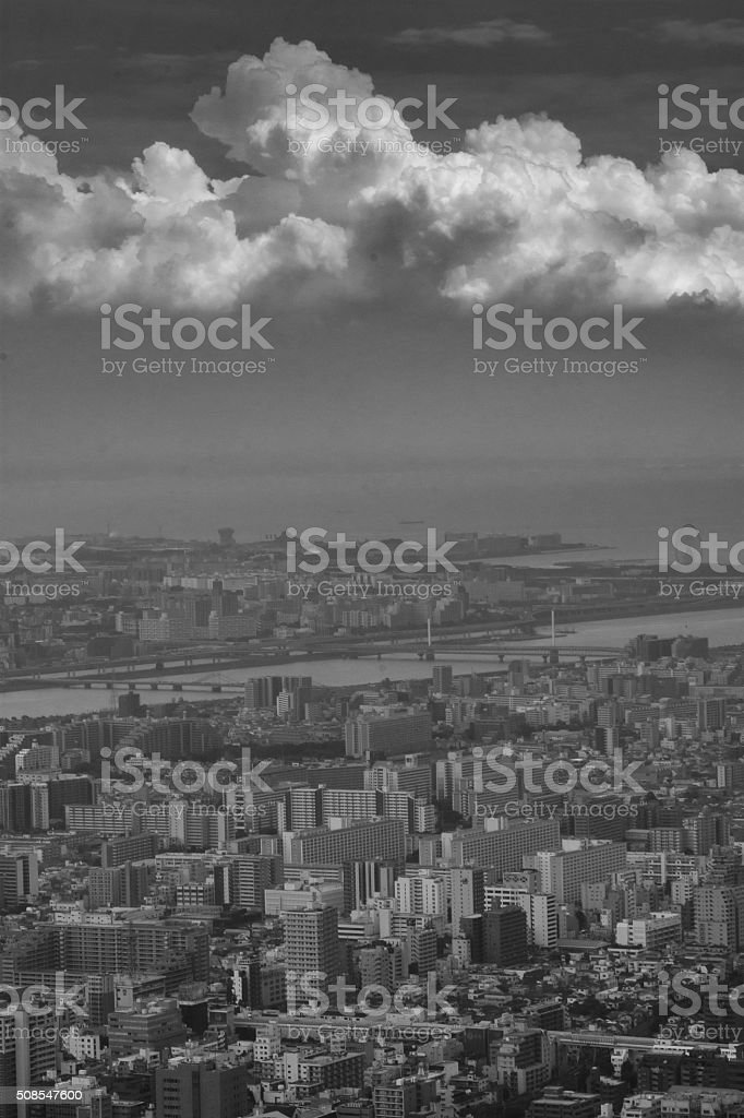 Tokyo View - Royalty-free Black And White Stock Photo
