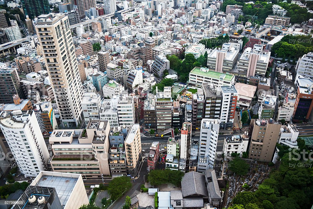 View of Tokyo from above