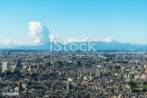 1131743616 istock photo Tokyo with the mounting Fuji on the background. Japan. 914823478
