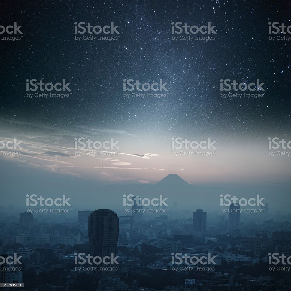 Tokyo without  Night Lights stock photo
