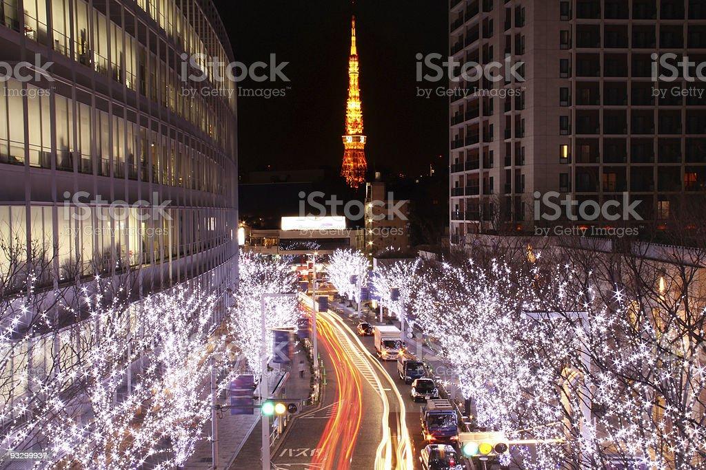 Tokyo Xmas Roppongi horizontal stock photo
