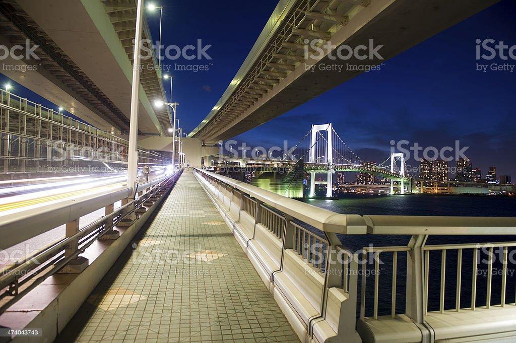 Tokyo`s Rainbow Bridge royalty-free stock photo