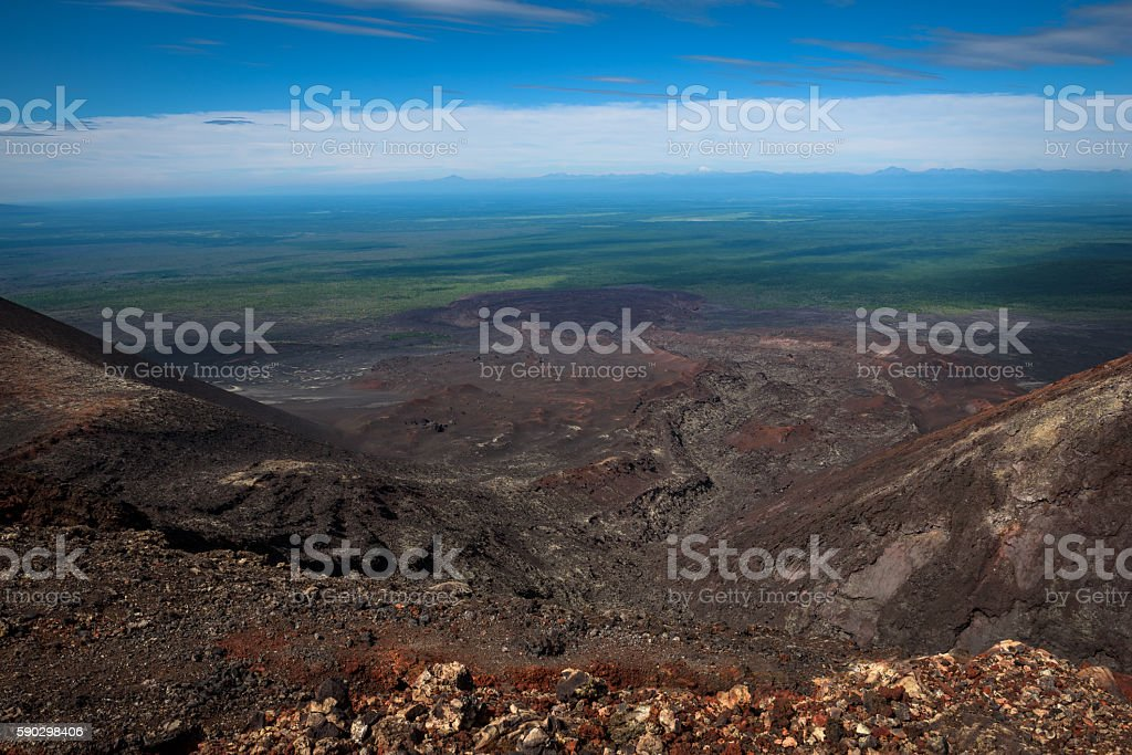 Tolbachik southern breaks lava stream Стоковые фото Стоковая фотография