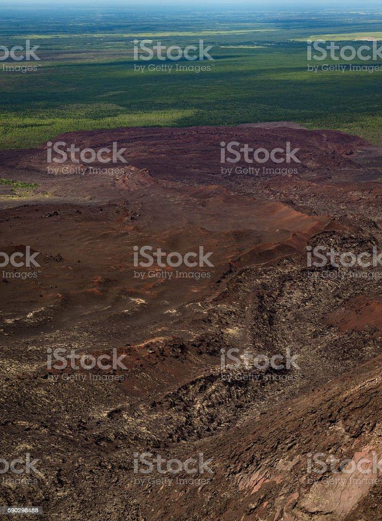 Tolbachik southern breaks lava stream royaltyfri bildbanksbilder