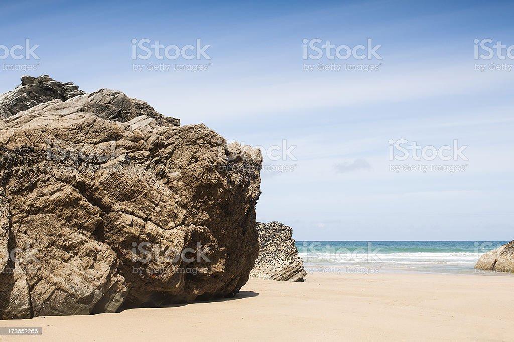 Tolcarne Beach, Newquay, Cornwall stock photo