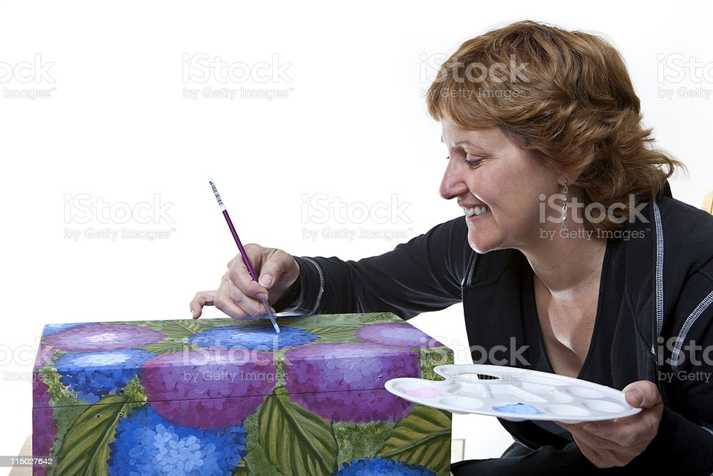 Tole Painting royalty-free stock photo