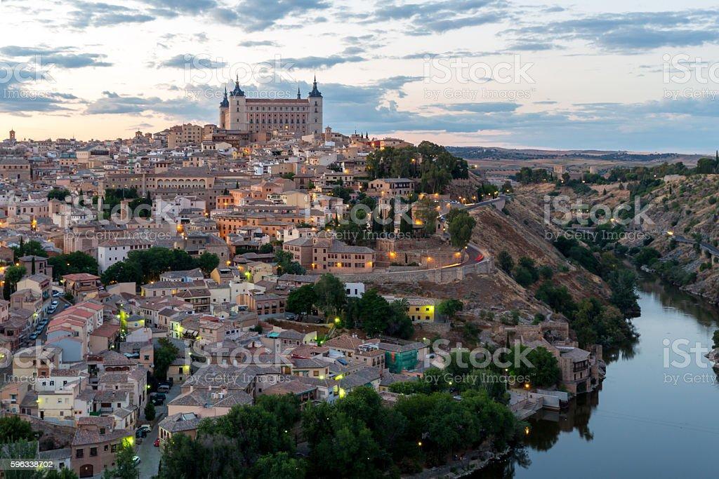 Toledo at dusk Spain royalty-free stock photo