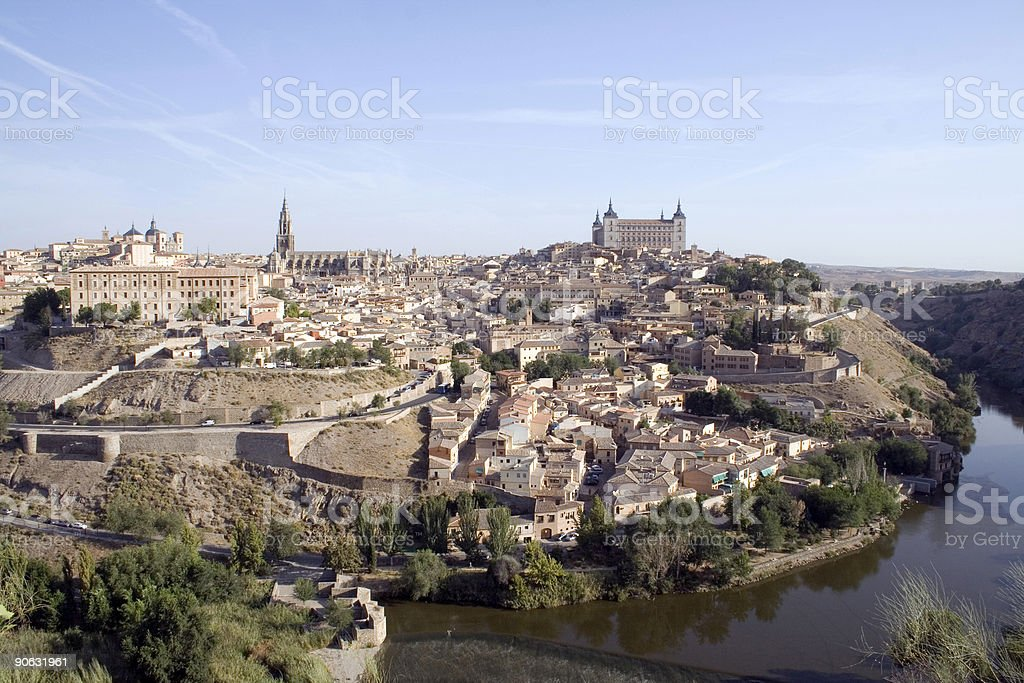 Toledo cityscape -  medieval city in central Spain stock photo