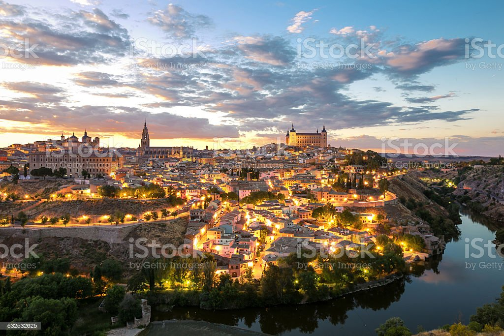 Toledo cityscape Spain stock photo