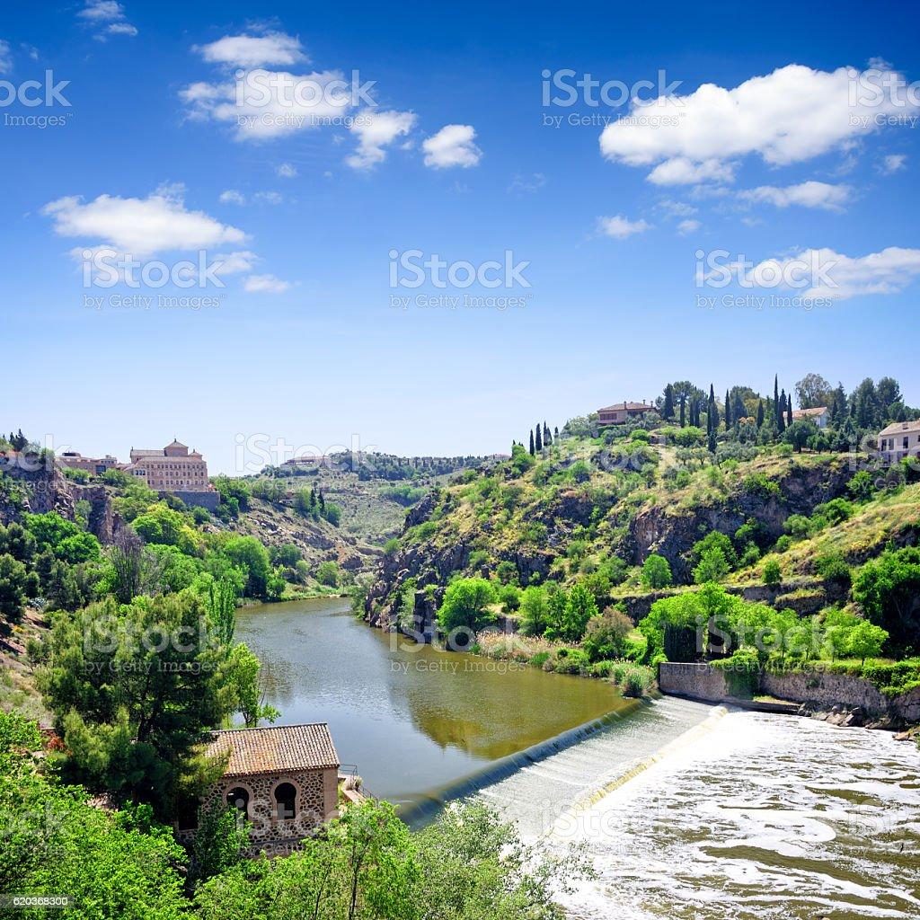Panorama Toledo, Hiszpania  zbiór zdjęć royalty-free