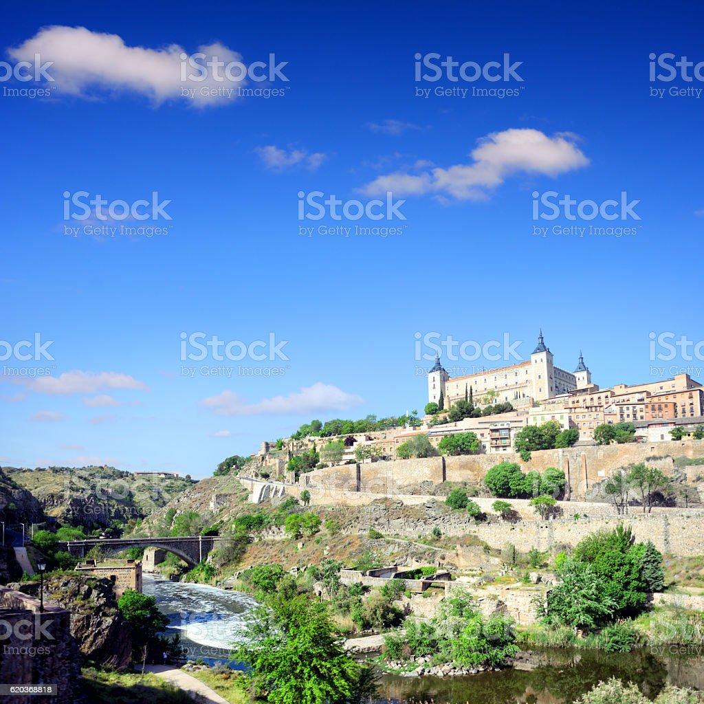 Vista da cidade de Toledo, Espanha foto de stock royalty-free