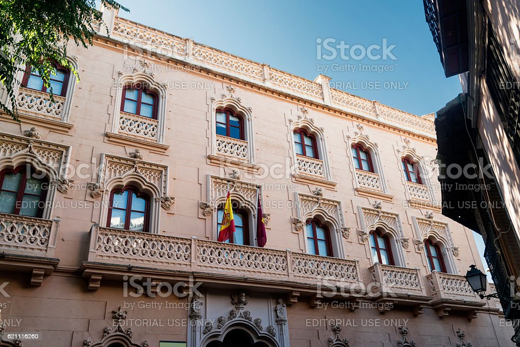 Toledo (Spain): historic palace stock photo