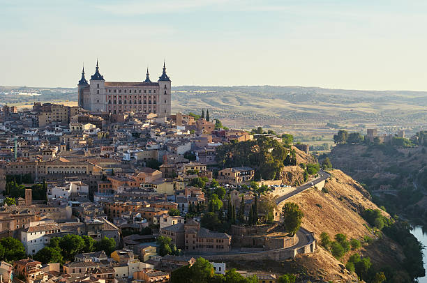 Toledo in Spanien bei Sonnenaufgang – Foto