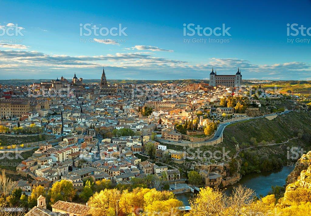 Toledo in sunset lights, Spain foto de stock libre de derechos