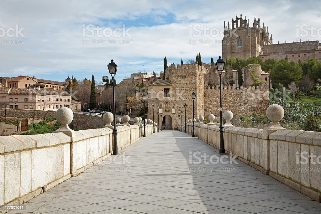 Toledo - Look from Saint Martin s bride stock photo
