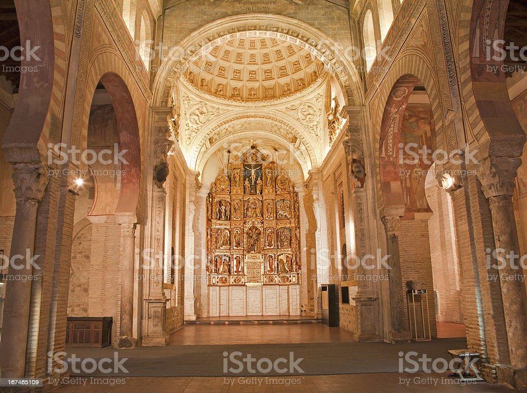 Toledo - Nave and altar of San Roman church royalty-free stock photo