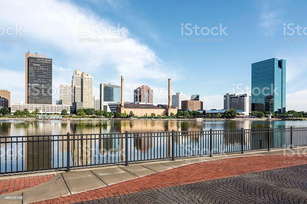Toledo Ohio City Skyline stock photo
